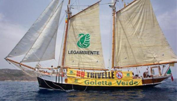 """Dal 27 al 29 giugno """"Goletta Verde di Legambiente fa tappa a Terracina."""