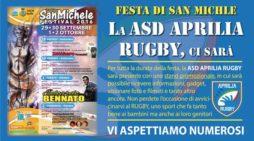 San Michele, l'Asd Aprilia Rugby partecipa con uno stand promozionale