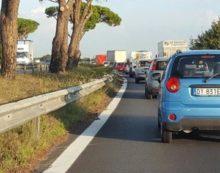 Incidente sulla Pontina, tra Castel Romano e Spinaceto: code in direzione Nord.