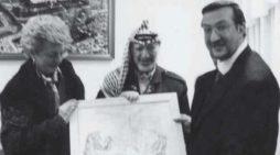 """""""La pace non è solo una parola"""". Shimon Peres nel dipinto di Guadagnuolo"""