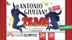 """Peace"", Antonio Giuliani torna al teatro Olimpico di Roma"