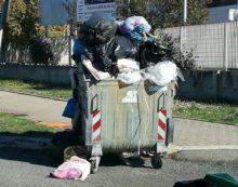 Aprilia, cassonetto colmo di rifiuti individuato in viale Europa
