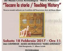 """ALBANO – percorso tattile per ipovedenti e non vedenti Al Museo Civico """"Mario Antonacci""""."""