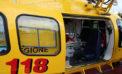 Camion si ribalta in un giardino di una villa a Genzano: ferito gravemente un 63enne di Prossedi.