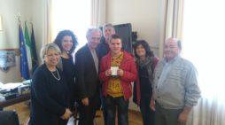 Il campione di nuovo Alessandro Marchiella ricevuto in Comune a Latina