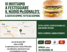 APRILIA – Aperto il nuovo ristorante McDonald's di via Mascagni.