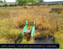 APRILIA-  Il parco giochi di via Selciatella in stato di abbandono, la denuncia.