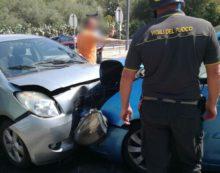 Nove persone coinvolte in un incidente sulla via Flacca, a Sperlonga.