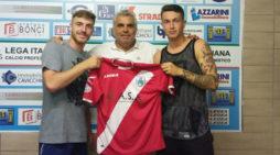 Calcio serie D, la Fc Aprilia ingaggia due nuovi giocatori: Damiano Sterpone e Gianmarco Valentini.