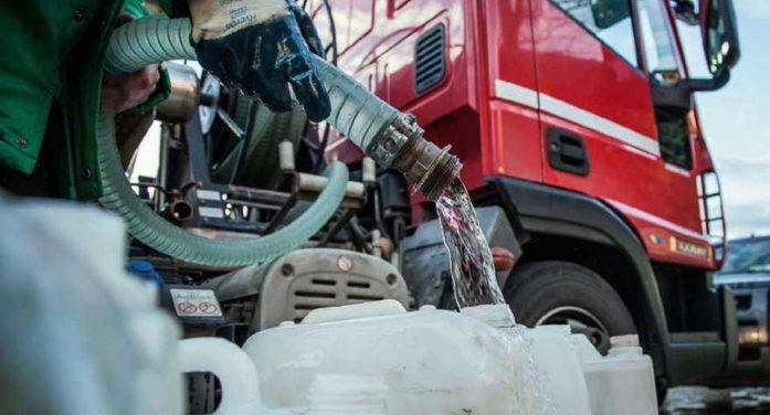 APRILIA – Arsenico nell'acqua: la terza autobotte raggiungerà anche le zone non servite, Campoverde e Campo di Carne.