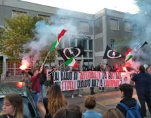 La Ministra Fedeli al Liceo Manzoni,  sit-in di protesta del Blocco Studentesco