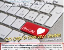 Raccolta di sangue: l'autoemoteca dell'Avis questa domenica a Villa Silvana.