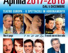 Torna la stagione di prosa di Aprilia, si inizia il 5 dicembre con De Filippo