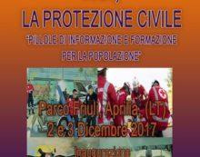 """""""Noi, la Protezione Civile"""": il 2 e 3 dicembre la manifestazione al Parco Friuli di Aprilia."""