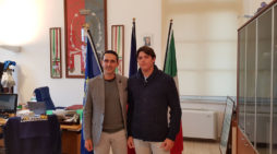 POMEZIA – Il sindaco Fucci incontra il giovane velista Andrea Balzer della Lega Navale Italiana.