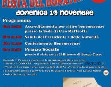 """""""Festa del Donatore"""" questa domenica a Latina: l'Avis Comunale compie 60 anni."""