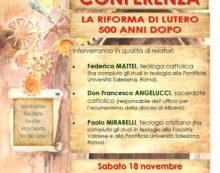 """Alla Biblioteca di Aprilia il 18 novembre la conferenza """"La Riforma di Lutero 500 anni dopo""""."""