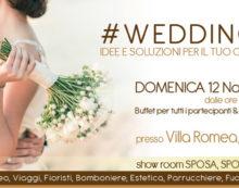 """Questa domenica 12 novembre """"Wedding Day"""" nella suggestiva cornice di Villa Romea, ad Aprilia."""