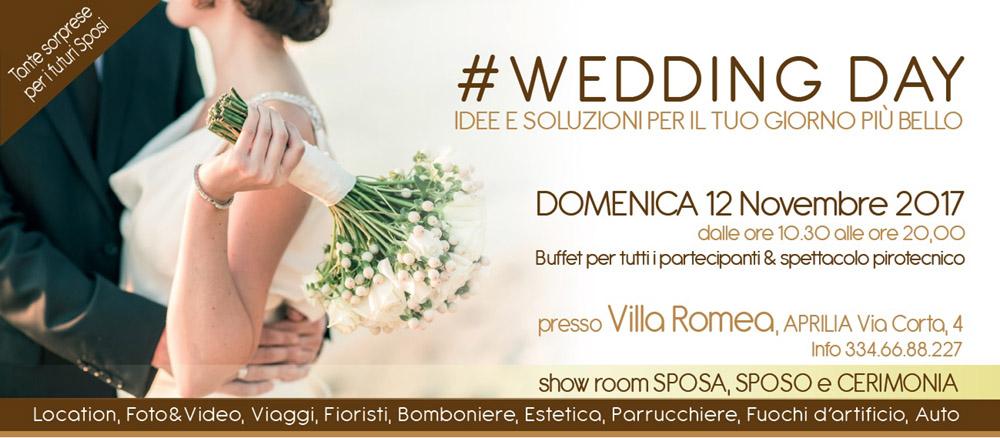"""6b25712af82b Questa domenica 12 novembre """"Wedding Day"""" nella suggestiva cornice di Villa  Romea"""