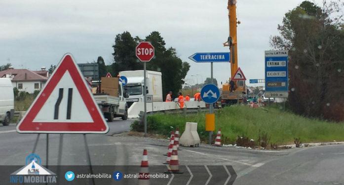 Un tratto di Pontina, nel territorio di Terracina, sarà chiuso al traffico per 6 mesi per lavori da parte dell'Anas.