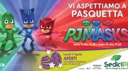 Pasquetta in compagnia dei pj masks al centro commerciale Sedici Pini di Pomezia