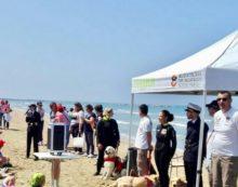 Addestramento in mare ad Anzio con i mezzi nautici della Guardia Costiera e la scuola italiana cani salvataggio