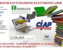 Seminario gratuito dei Ciap di Aprilia per le aziende sulla fatturazione elettronica B2B.