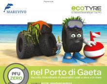 A Gaeta la raccolta straordinaria di pneumatici in mare