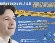 Il candidato a sindaco di Cisterna Gianluca Del Prete chiude la campagna al Quartiere San Valentino.