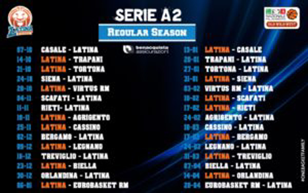 Calendario Serie A2 Basket.Basket Serie A2 Diramato Il Calendario Del Prossimo