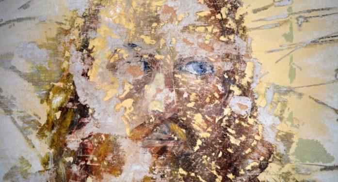 Antico affresco riaffiora durante i lavori all'ex Refettorio dell'abbazia del Valvisciolo