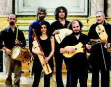 """Concerto di musica antica a Cori con l'ensamble """"Micrologus""""."""