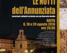 """""""Le notti dell'Annunziata"""": a Gaeta un suggestivo percorso nei luoghi d'arte."""