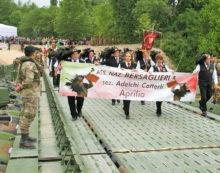 I Bersaglieri Adelchi Cotterli di Aprilia al raduno nazionale sul Piave