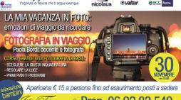 """APRILIA – """"La mia vacanza in foto"""": l'agenzia Viaggi Carmen organizza un corso base di fotografia con apericena."""