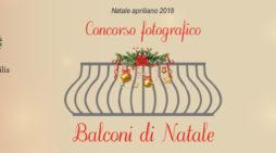 """La Pro Loco di Aprilia organizza il concorso """"Premio balconi di Natale 2018""""."""