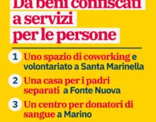 Beni sequestrati alla criminalità: il Governatore Zingaretti consegna le chiavi all'Avis di Marino.