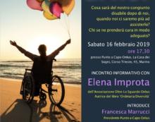 """A Marino oggi un convegno sulla """"Legge Dopo di Noi"""". Ospite Elena Improta."""
