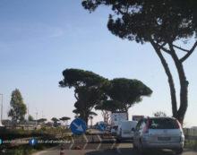 Viabilità sulla Pontina, code per lavori a Castel Romano verso Aprilia