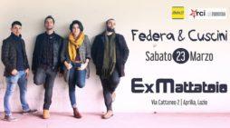 """All'ExMattatoio di Aprilia questo sabato arriva il neapolitan-folk di """"Federa & Cuscini"""". Un concerto imperdibile."""