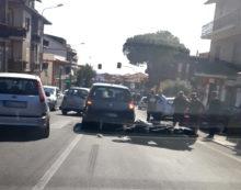 Incidente sulla Nettunense, a Cecchina, coinvolto un motociclista.