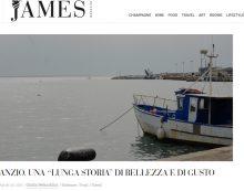 """Anzio protagonista sulla copertina del periodico online """"James Magazine""""."""