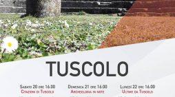 Fine settimana di Pasqua al Tuscolo, con  visite guidate e passeggiate all'aria aperta.