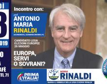 Aprilia, incontro con il professor Rinaldi della Lega per parlare di Europa