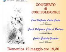 """Questa domenica ad Aprilia la rassegna corale """"Poliphonica 2019"""" organizzata dall'associazione """"Laeta Corda""""."""