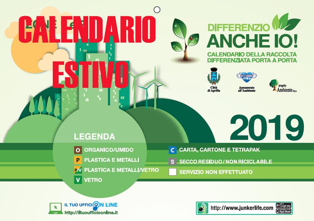 Calendario Differenziata Aprilia 2020.Aprilia Entra In Vigore In Sordina Il Calendario Estivo