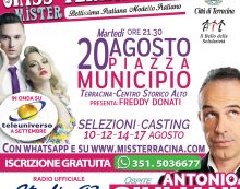 Elezione di Miss e Mister Terracina: la finalissima in Piazza Municipio. Ospite Antonio Giuliani!
