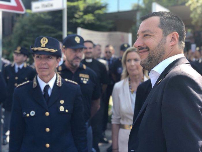 Il Ministro dell'Interno, Matteo Salvini, visita la Scuola
