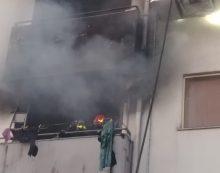 Incendio in un appartamento a Cisterna, stabile evacuato FOTO