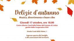 """A Latina """"Delizie di autunno"""", una cena comunitaria"""